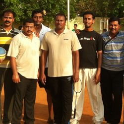A picture of Nellore association members after completing a sport activity