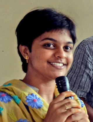 K Nikita who won the Leo of the Year award at a function in Visakhapatnam on Thursday