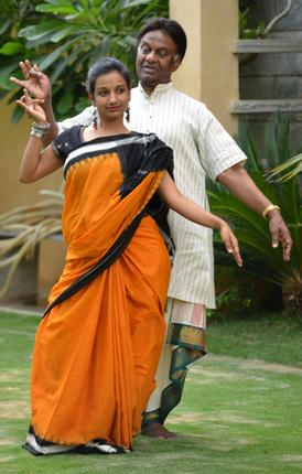 Kuchipudi dancer Raja Reddy and his daughter Yaminin Reddy / Photo: Nagara Gopal / The Hindu