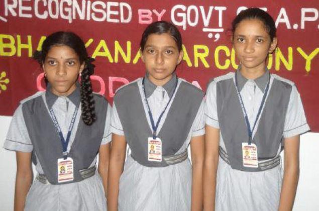 Sri Sai Krishna school students K. Hematrishathi, S. Pranavi and T. Gayatri, of Kadapa have been chosen to take part in the second phase of National Aerolympics 2014 in Bangalore. / The Hindu