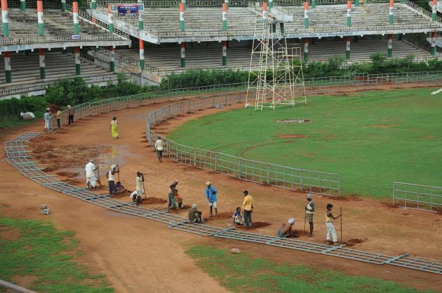 The IGMC Stadium in Vijayawada will be venue for Junior Athletics. Photo. Ch. Vijaya Bhaskar / The Hindu