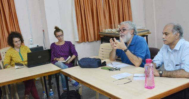 VIJAYAWADA ANDHARA PRADESH, 17/11/2014: Prof. Raffaele Paloscia (second from right) of University of Florence addressing a seminar at School of Planning and Architecture near Vijayawada on Monday. Photo. HANDOUT_E_MAIL
