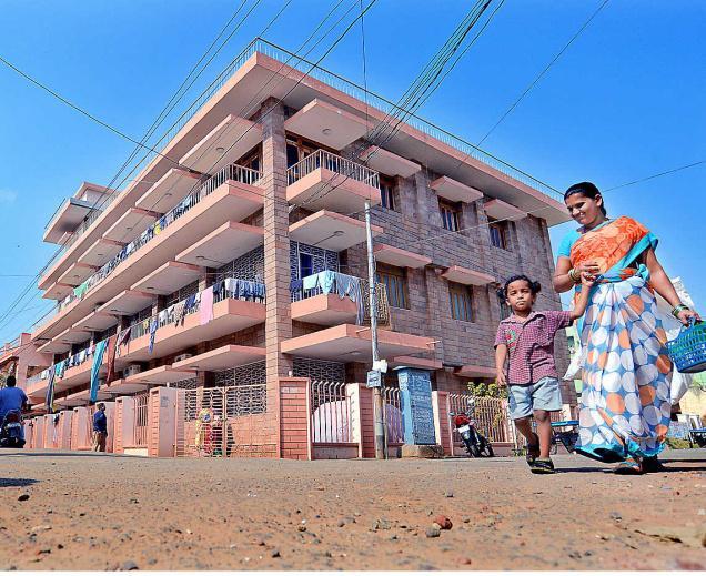 The famous 'chekkudurayi' building at Akkayyapalem in Visakhapatnam.— PHOTO: K.R. DEEPAK