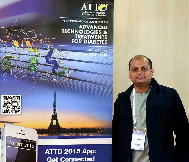 Sunil Kota, endocrinologist from Vijayawada, at the Advanced Technologies and Treatments for Diabetes conference held in Paris. —Photo: By Arrangement