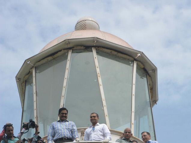 The old Light House has been restored and thrown open for public. Photo:C.V.Subrahmanyam