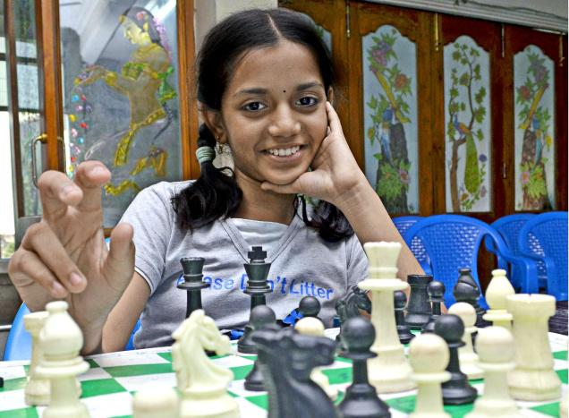 B. Mounika Akshaya won three medals at the 16th ASEAN age group chess tournament in Singapore.— File Photo: T. Vijaya Kumar