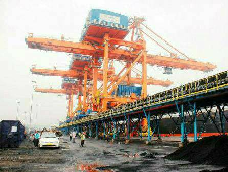 Andhra Pradesh ranks first in value terms in port projects that are in under construction in public-private partnership mode as of April 30.