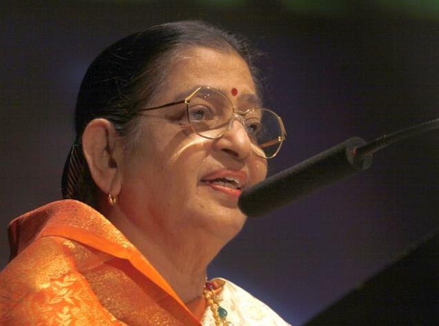 Veteran playback singer P. Susheela. File photo: Thulasi Kakkat / The Hindu
