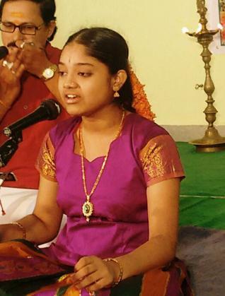 Kottapalli Pravallika during her concert