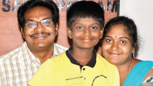 K Dhivijit was among the six children who represented India