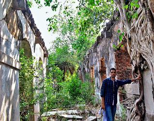 The remains of the British Prison at Bandarkota village near Machilipatnam in Krishna district.