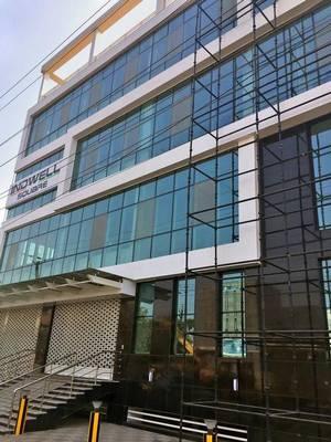 The building in Vijayawada from where IT companies will start functioning shortly.