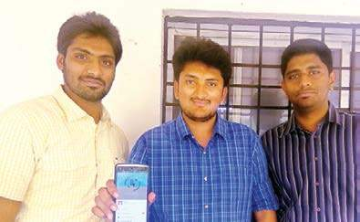 The three students of Andhra university who came up with a mobile app for avoiding long queues | express