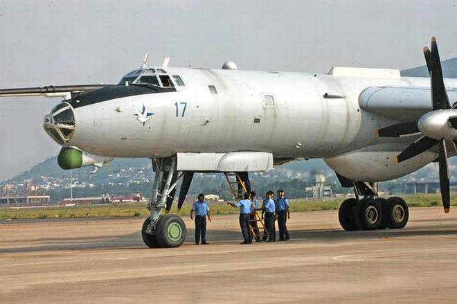 A file picture of the TU 142 aircraft. | Photo Credit: C_V_Subrahmanyam