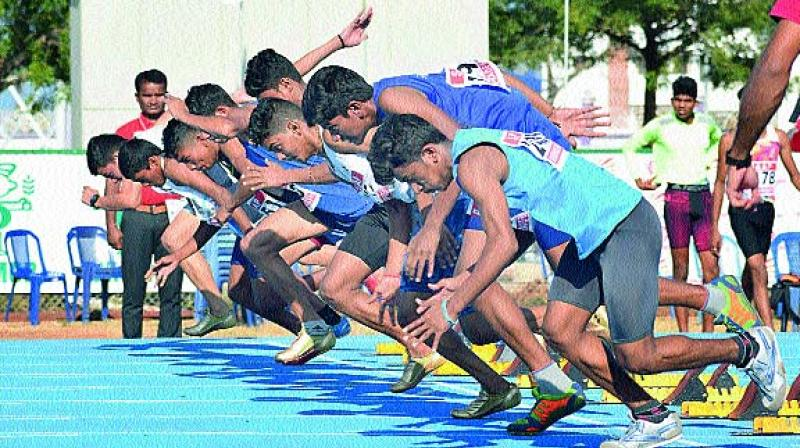 With his outstanding performance, AP Masters Athletics Association has been selected Mendu Satyanarayana for National Championship. (Photo: DC)