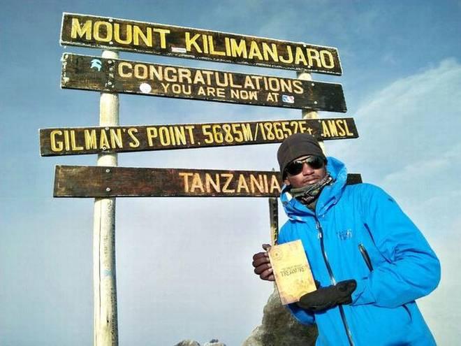 Suresh Babu atop Mount Kilimanjaro in Tanzania.   | Photo Credit: BYARRANGEMENT